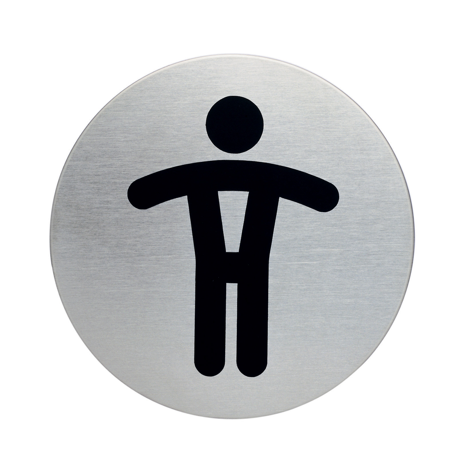RVS Pictogram Ø 83mm toilet heren
