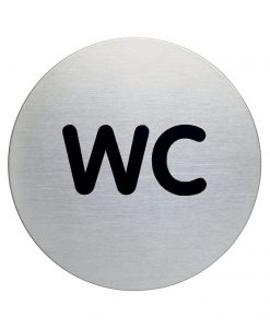 RVS Pictogram Ø 83mm WC