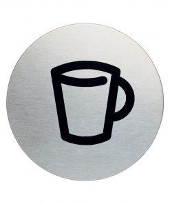 RVS Pictogram Ø 83mm café
