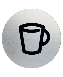 RVS Pictogram Ø 83mm café