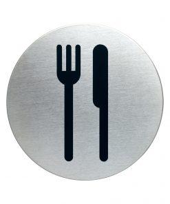 RVS Pictogram Ø 83mm restaurant - kantine