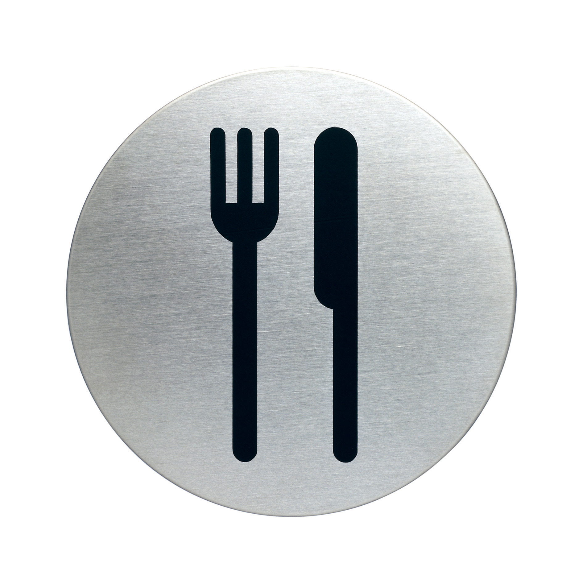 RVS Pictogram Ø 83mm restaurant - kantine