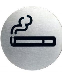 RVS Pictogram Ø 83mm roken toegestaan