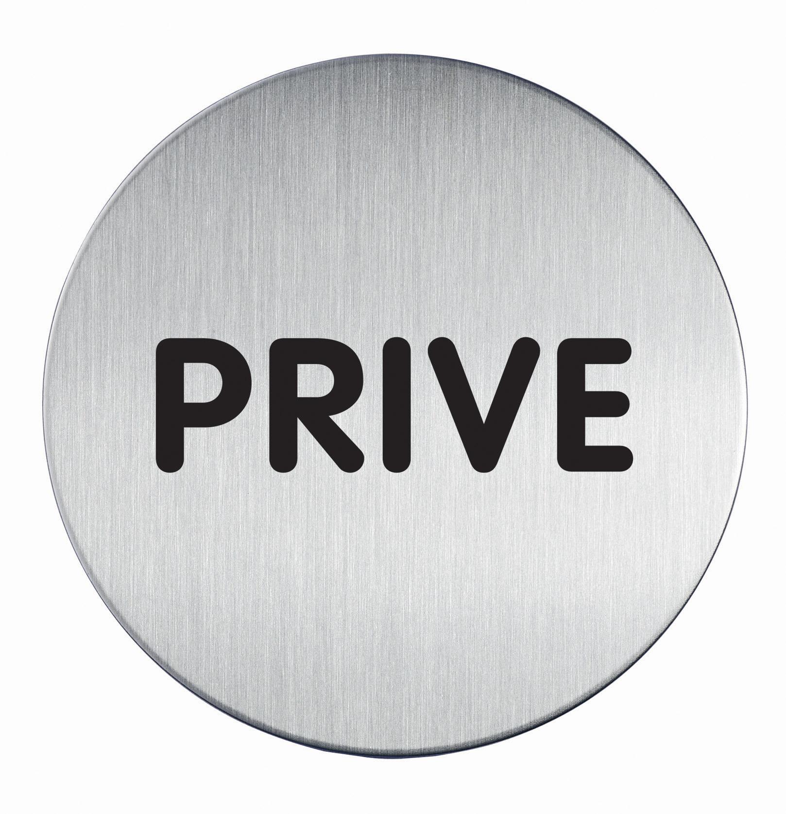 RVS Pictogram Ø 83mm privé