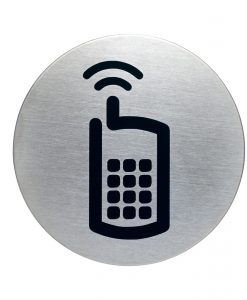 RVS Pictogram Ø 83mm gsm toegestaan