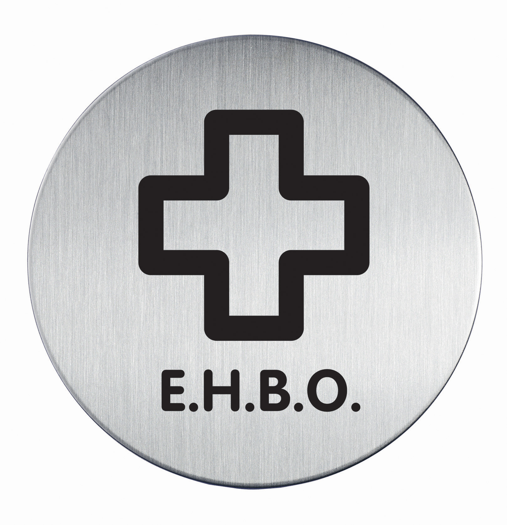 RVS Pictogram Ø 83mm EHBO