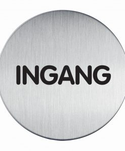 RVS Pictogram Ø 83mm ingang