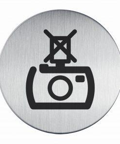 RVS Pictogram niet flitsen Ø 83mm