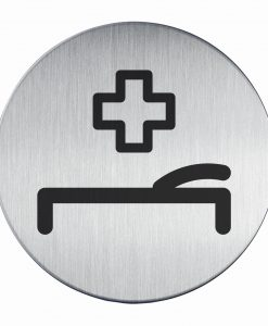 RVS Pictogram Ø 83mm EHBO ruimte