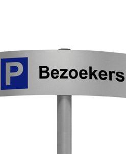 Gebogen parkeerbord Bezoekers