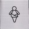 RVS Pictogram 125x125mm baby