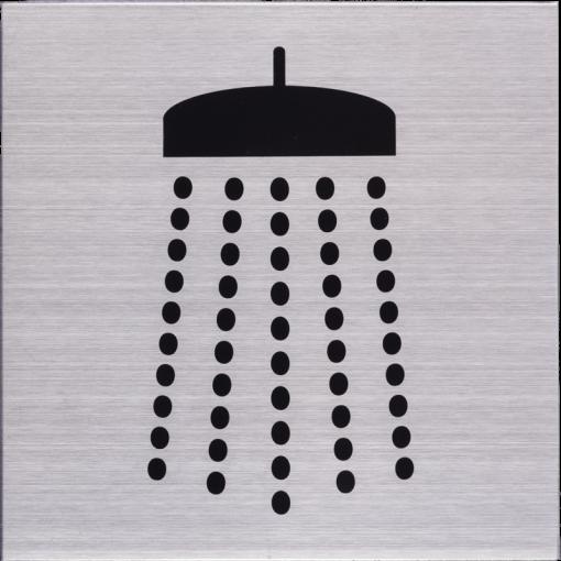 Deurbordje pictogram Douche 125mm