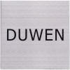 RVS Pictogram 125x125mm Duwen