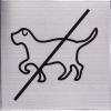 RVS Pictogram 125x125mm Verboden voor honden