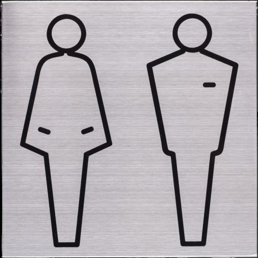 RVS Pictogram 125x125mm toiletten