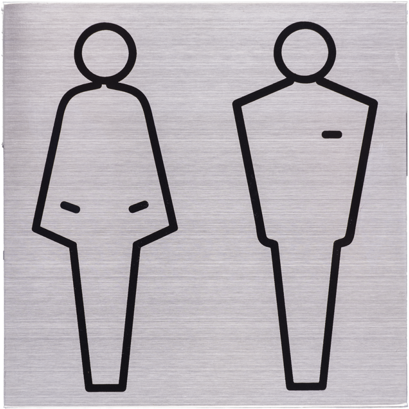 RVS Pictogram 125x125mm toiletten