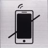 RVS Pictogram 125x125mm telefoon verboden