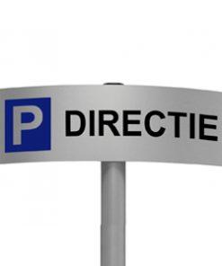 Gebogen parkeerbord Directie