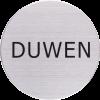 RVS Pictogram duwen Ø 82mm
