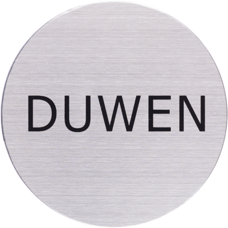 RVS Pictogram duwen Ø 82mm