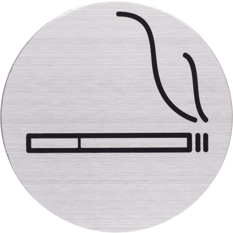 RVS Pictogram rookruimte Ø 82mm