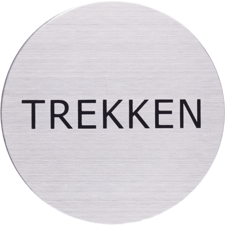 RVS Pictogram trekken Ø 82mm