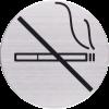 RVS Pictogram verboden te roken Ø 82mm