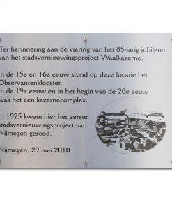 RVS Gedenkplaat A3 420x297mm