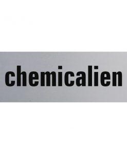 Aluminium deurbordje 130x50mm chemicalien