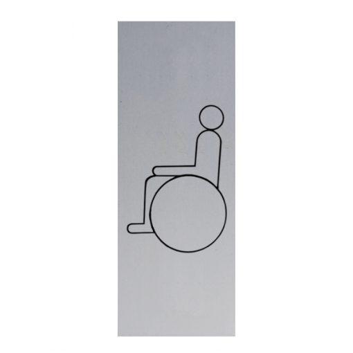 Aluminium deurbordje 130x50mm invaliden logo