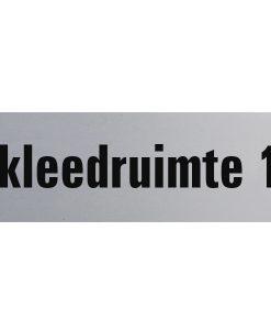 Aluminium deurbordje 130x50mm kleedruimte 1