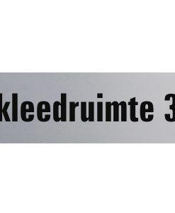 Aluminium deurbordje 130x50mm kleedruimte 3