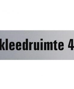 Aluminium deurbordje 130x50mm kleedruimte 4
