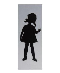 Aluminium deurbordje 130x50mm meisjes logo