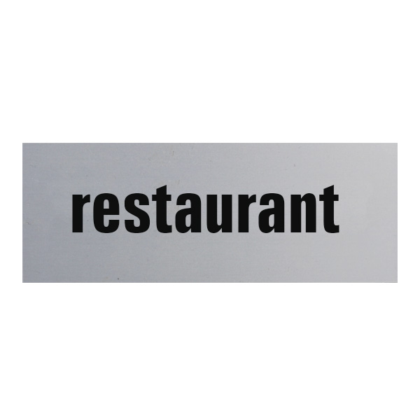 Aluminium deurbordje 130x50mm restaurant