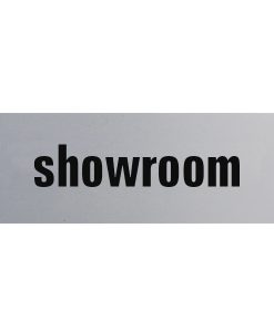 Aluminium deurbordje 130x50mm showroom