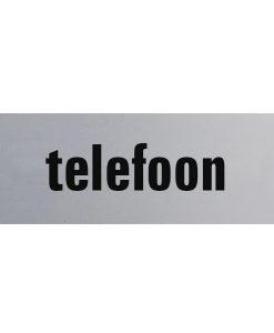 Aluminium deurbordje 130x50mm telefoon