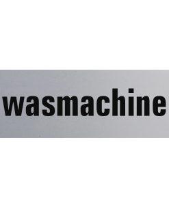 Aluminium deurbordje 130x50mm wasmachine
