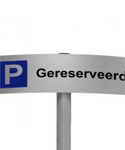 Gebogen parkeerbord Gereserveerd