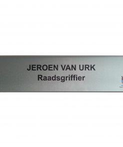 Aluminium tafelbordje 200x50mm RVS-look