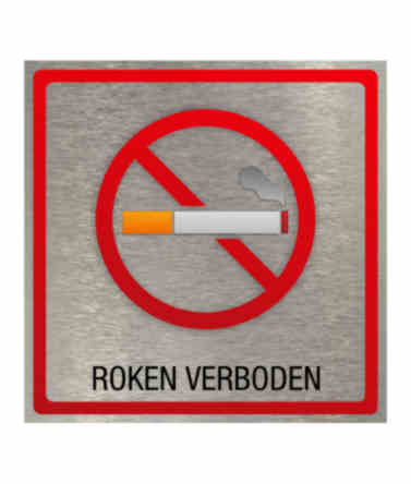 Pictogram eigen ontwerp Roken verboden 100x100mm