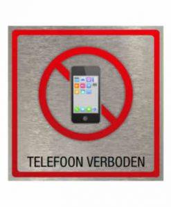 Pictogram eigen ontwerp telefoon verboden