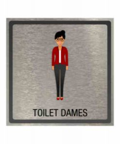 Dibond Pictogram toilet dames 100x100mm