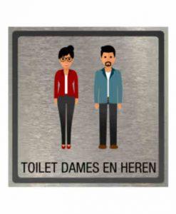 Pictogram eigen ontwerp toilet dames en heren 100x100mm