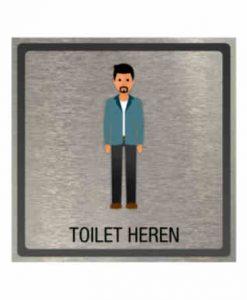 Pictogram eigen ontwerp toilet heren 100x100mm