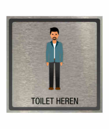 Pictogram eigen ontwerp toilet heren 100x100mm