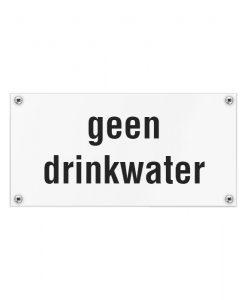 Kunststof naambord geen drinkwater 200x100mm