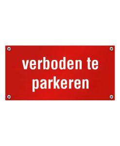 Kunststof naambord verboden te parkeren
