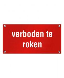 Kunststof naambord verboden te roken