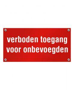 Kunststof naambord verboden toegang